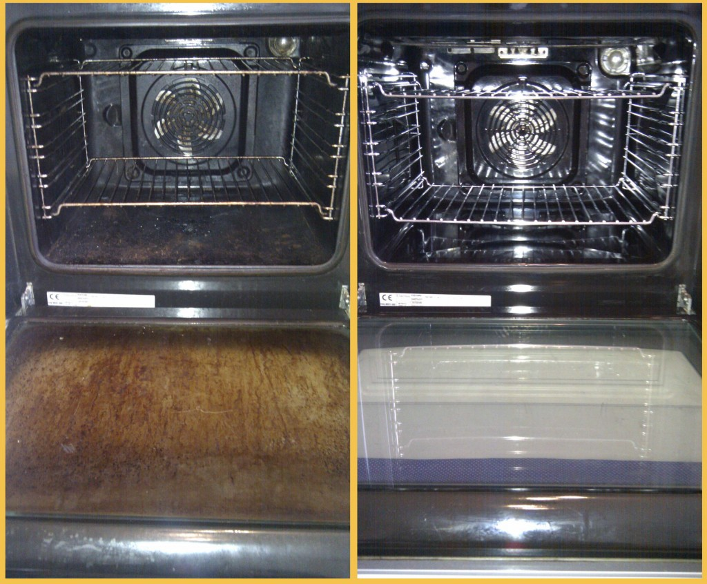 Oven cleaning Before and after